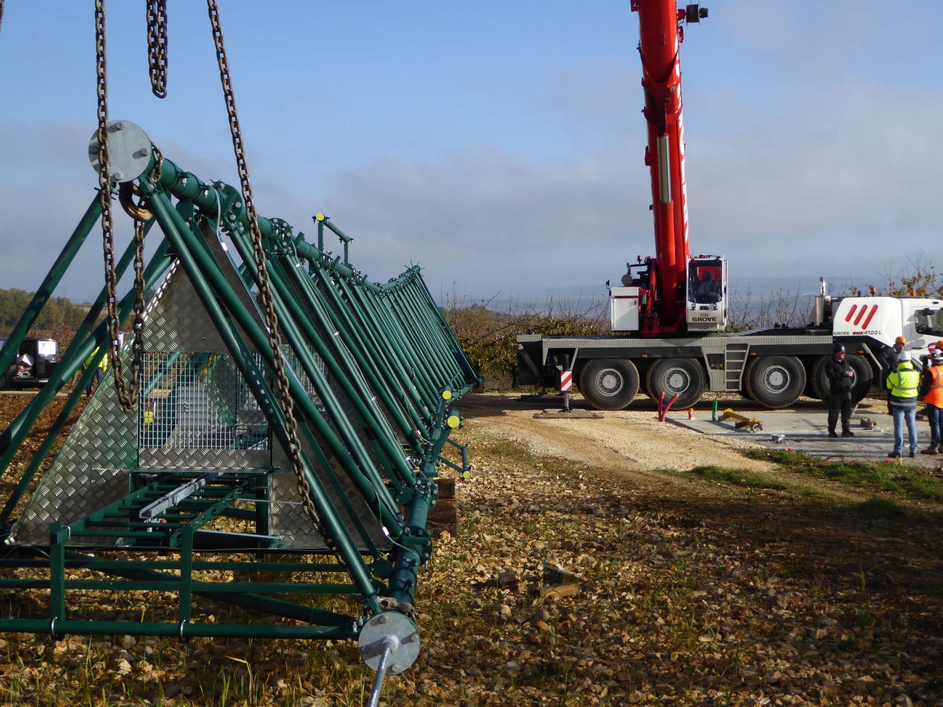 Un pylône pour résorber une zone blanche à Coulanges la Vineuse