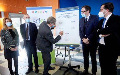 Signature du nouveau contrat de concession entre le SDEY, ENEDIS et EDF