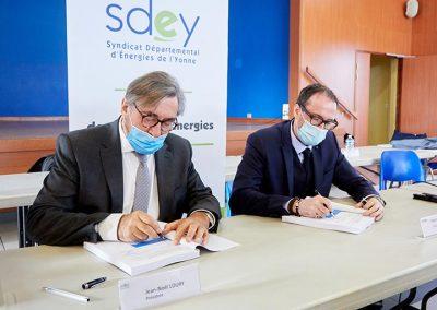 Signature Du Nouveau Contrat De Concession Sdey Enedis Edf 3